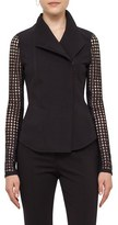 Akris Punto Women's Lace Sleeve Jersey Jacket