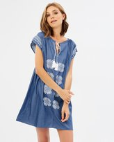 Sass Issa Embroidered Front Dress