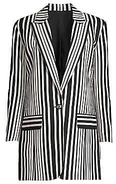 The Kooples Women's Stripe Single-Breasted Blazer