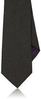 Ralph Lauren Purple Label Men's Pindot-Weave Cashmere-Silk Necktie-DARK GREY