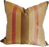 One Kings Lane Vintage Imported Silk Stripe Pillow