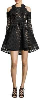 Thurley Hybrid Lace Cold Shoulder Dress