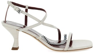 STAUD Chain Link Ankle Strap Sandals