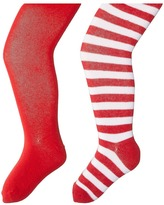 Jefferies Socks Seamless Organic Cotton Solid Tights + Red/White Stripe Tights Pack Hose
