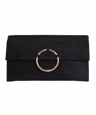 Eferri Glamour Circulo Womens Clutch Black (Negro) 3x16x27 centimeters (W x H x L)