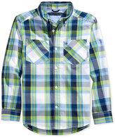 Tommy Hilfiger Basil Plaid Shirt, Big Boys (8-20)
