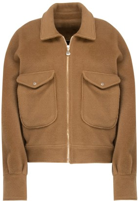 A Line Clothing Oversized Boxy Wool Jacket