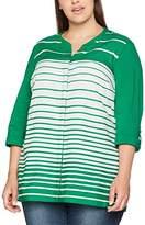 Ulla Popken Women's Hemdbluse Mit Streifenverlauf Shirt