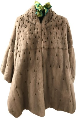 Giuliana Teso Beige Fur Coat for Women Vintage