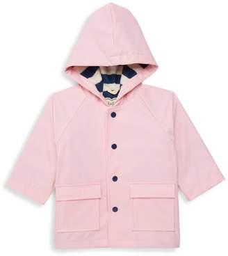 Hatley Baby Girl's Hooded Faux Leather Raincoat
