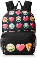 Nickelodeon Teenage Mutant Ninja Turtles Little Girls Emojininja 17 Inch Backpack