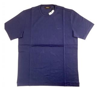Ermenegildo Zegna Blue Cotton T-shirts