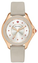 Michele Women's Cape Topaz Dial Silicone Strap Watch, 36Mm