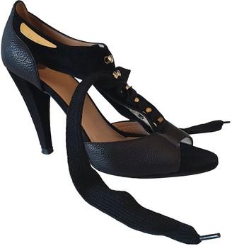 Elisabetta Franchi Black Leather Sandals