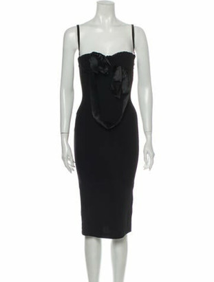 Dolce & Gabbana Square Neckline Mini Dress Black