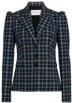 Michael Kors Puff-Shoulder Virgin Wool Blazer