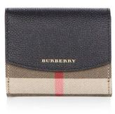 Burberry Luna House Check & Derby Leather Wallet