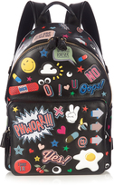 Anya Hindmarch All Over Stickers mini leather backpack