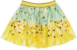 Molo Banana Print Cotton Poplin Skirt