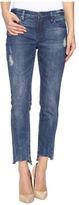 Blank NYC Cropped Denim Distressed Skinny Raw Hem Jeans in Club Kid Women's Jeans