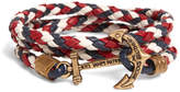 Brooks Brothers Kiel James Patrick Red Leather Wrap Bracelet