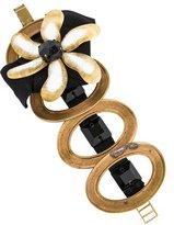 Marni Crystal & Lucite Floral Bracelet