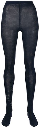 Wolford Jackie floral patterned tights