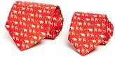 Salvatore Ferragamo Father/Son Zoo Animals Classic Tie Gift Box Set