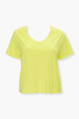 Forever 21 Plus Size Relaxed V-Neck Tee