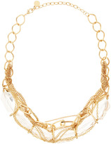RJ Graziano Golden Six-Stone Wrapped Necklace