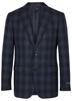 Pal Zileri Navy Checked Wool And Cashmere Blend Blazer
