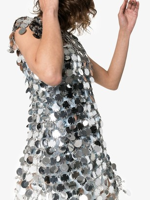 Paco Rabanne Sequin Chain-Disc Mini Dress