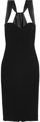 Victoria Beckham Satin-trimmed Crepe Dress