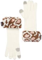 Muk Luks Leopard Cuff Gloves