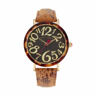 Betsey Johnson Women's Japanese Quartz Watch with Cloth Strap