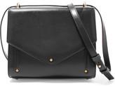 Sara Battaglia Plissé Leather Shoulder Bag - Black