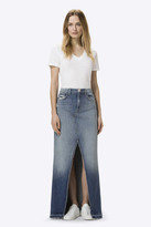 J Brand Trystan High-Rise Maxi Skirt in Wrecked
