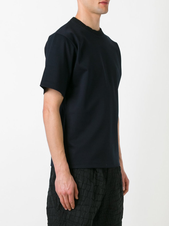 Kolor ribbed neck T-shirt