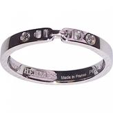Hermes Platinum anchor chain ring