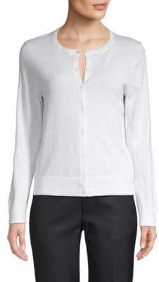 Saks Fifth Avenue Cotton, Silk & Cashmere Blend Cardigan