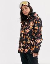 Roxy Snow Torah Bright Jetty ski jacket in floral black