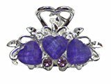 B.ella Mini Jaw Clips in Beads and Sparkling Stones U864175-0031violet