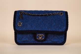 Chanel Wool Two-Tone Rue Cambon Single Flap Bag