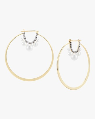 Jemma Wynne Prive Pearl Large Hoop Earrings