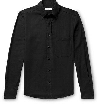 The Row Vance Button-Down Collar Cotton And Wool-Blend Twill Shirt