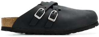 Birkenstock Two-Strap Leather Mules