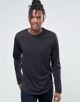 ONLY & SONS Longline Long Sleeve T-Shirt