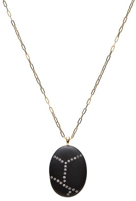 Cvc Stones 18kt yellow gold diamond Obstacle necklace