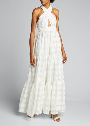 Ulla Johnson Fontaine Printed Cross-Front Gown