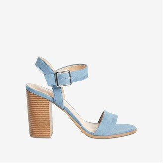 Joe Fresh Women's Buckle Strap Sandals, Blue (Size 8)